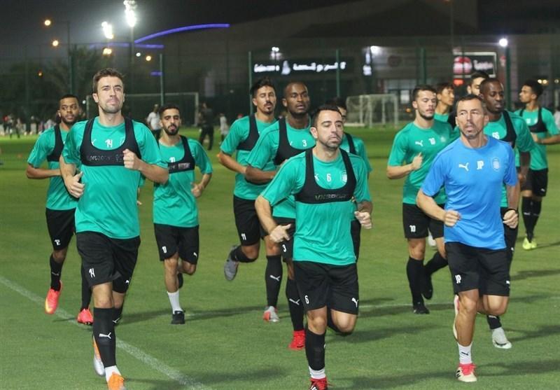 تمرین کامل حریف قطری استقلال با حضور ملی پوشان